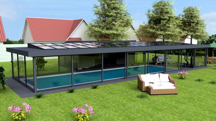 Poolhaus für Schwimm- & Spa-Bereich   Krenzer-Wintergarten