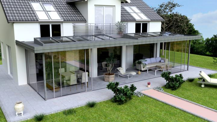 Glashaus: 3D-Entwurf