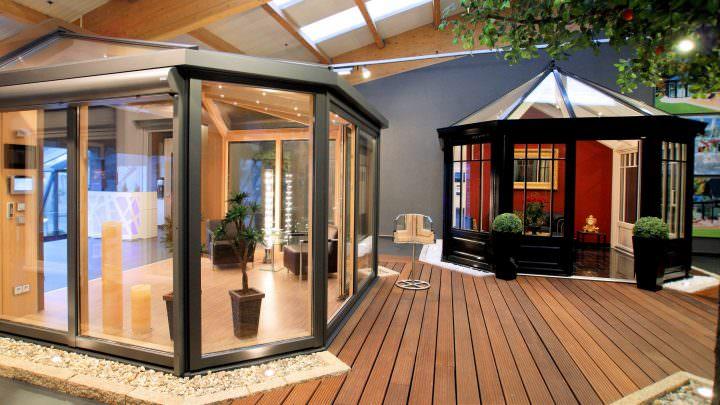 Ausstellung moderner Wintergärten bei Krenzer