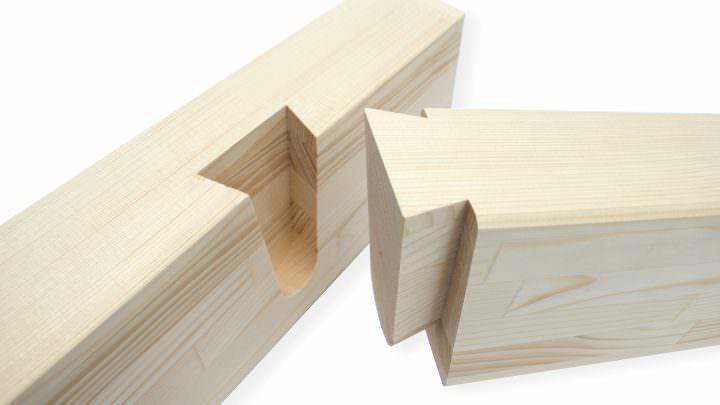 Holzverarbeitung für einen Wintergarten
