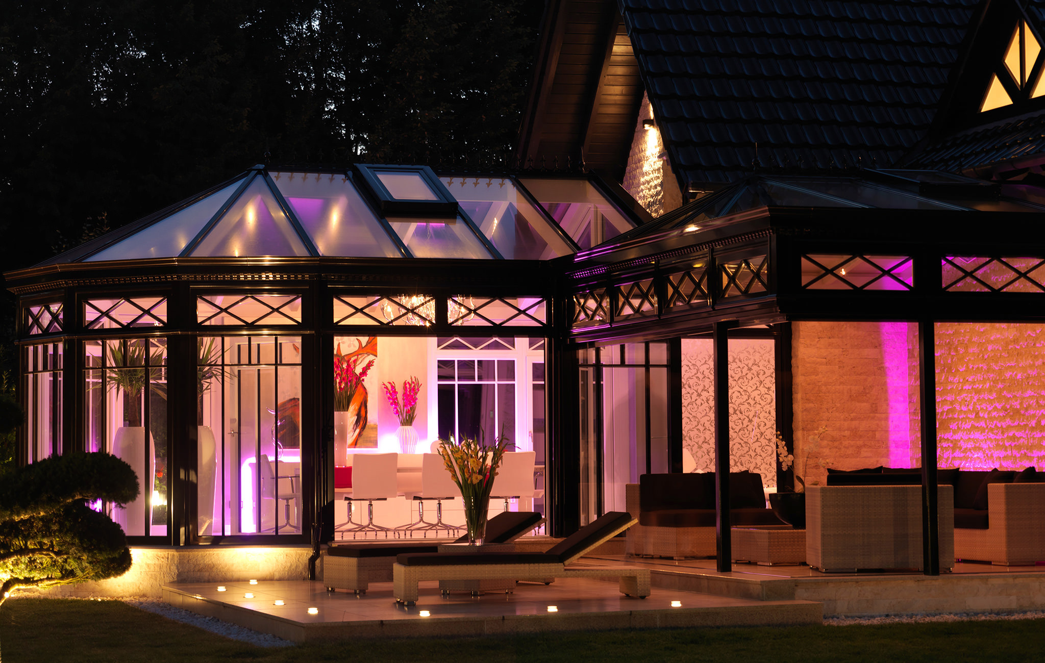 wintergarten beleuchtung krenzer wintergarten ratgeber. Black Bedroom Furniture Sets. Home Design Ideas