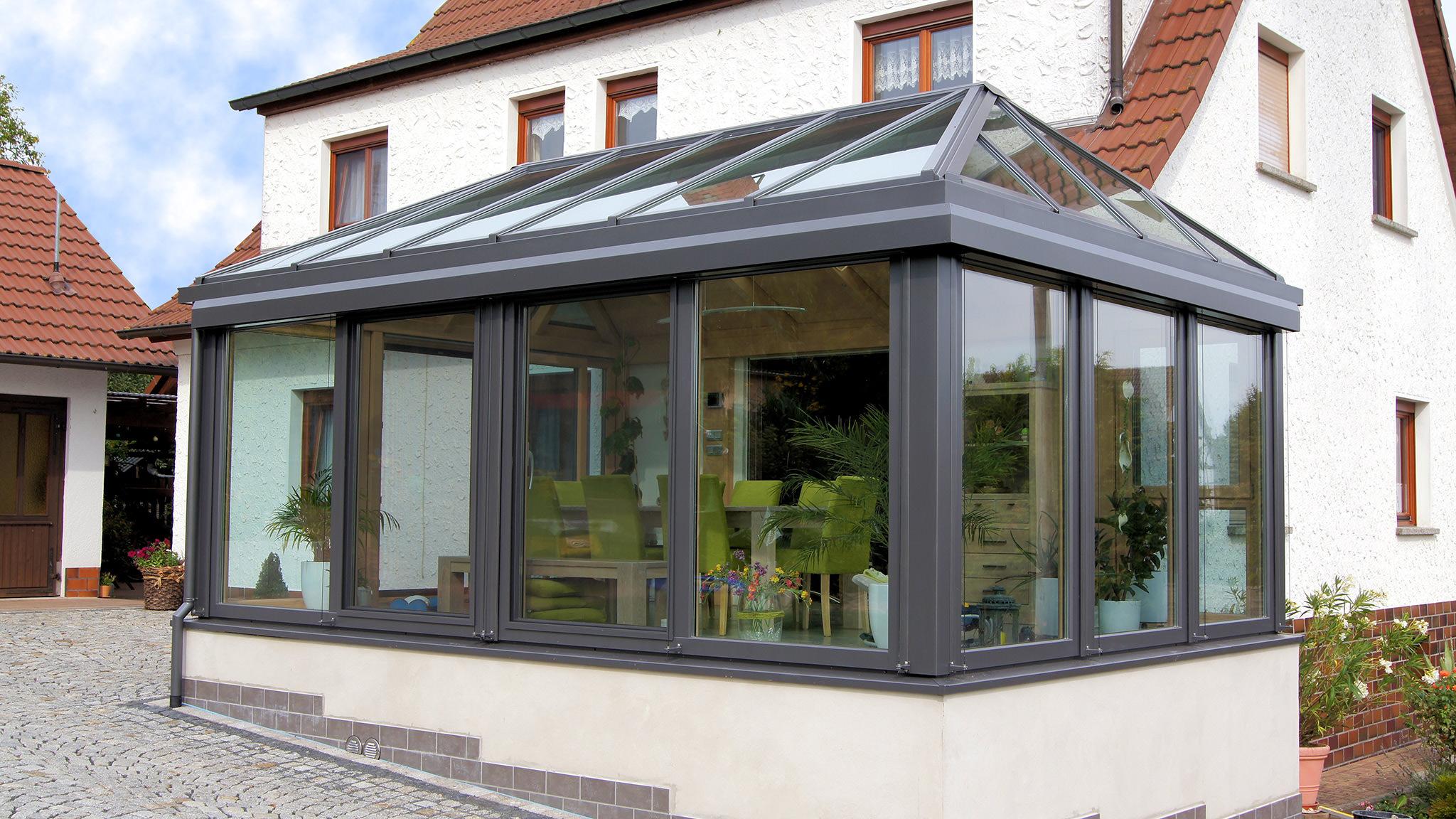 moderner wintergarten krenzer wintergarten ratgeber. Black Bedroom Furniture Sets. Home Design Ideas