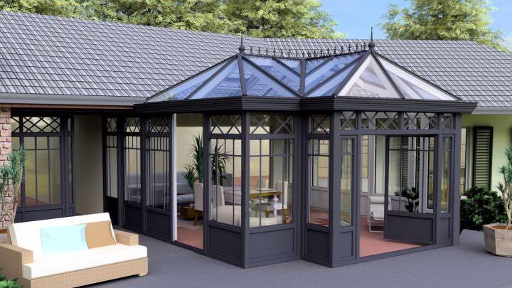 Viktorianischer Wintergarten: 3D-Entwurf